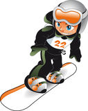 dziecka snowboarder Fotografia Stock