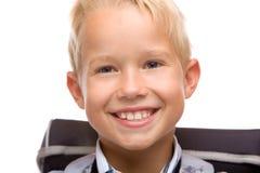 dziecka szczęśliwego ucznia szkolny ja target1201_0_ Zdjęcie Royalty Free