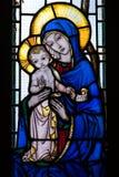 dziecka szkła matki pobrudzony okno Zdjęcie Royalty Free