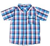dziecka szkockiej kraty koszula Obrazy Royalty Free