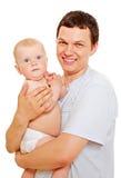 dziecka tła śliczny mężczyzna nad ja target818_0_ biel Zdjęcia Royalty Free
