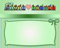 dziecka tła królika karty śliczny kwiecisty prysznic tekst Zdjęcie Royalty Free