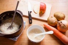dziecka tła karmowy makaronowy surowy biel Obraz Royalty Free