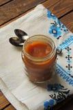 dziecka tła karmowy makaronowy surowy biel Owocowy puree Zdjęcie Stock
