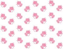 Dziecka tła kotów menchie bezszwowe Ilustracji