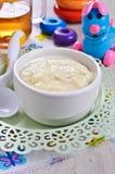 dziecka tła karmowy makaronowy surowy biel Obrazy Stock