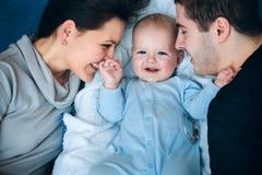 dziecka tata mama zdjęcia royalty free