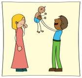 dziecka trochę rodzic ich ilustracja wektor