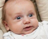 dziecka twarzy śmieszny robienie zaskakujący fotografia royalty free
