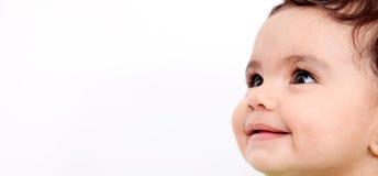 dziecka twarzy ja target558_0_ Zdjęcia Stock