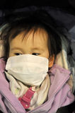 dziecka twarzy japończyka maskowy target1782_0_ Zdjęcie Royalty Free
