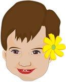 dziecka twarzy kwiatu dziewczyna Obrazy Stock