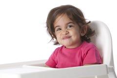dziecka twarzy śmieszna dziewczyna Zdjęcia Royalty Free