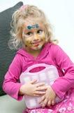 dziecka twarzy obrazu preschooler Zdjęcie Stock