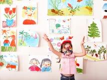 dziecka twarzy obrazu sztuka pokój Fotografia Stock