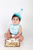 dziecka urodziny chłopiec obraz stock