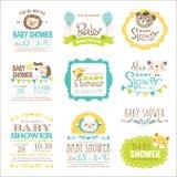 dziecka urodzonej chłopiec karty nowa prysznic Obrazy Stock