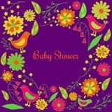 dziecka urodzonej chłopiec karty nowa prysznic Fotografia Stock