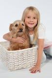 Dziecka whit pies Obrazy Royalty Free