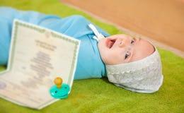 dziecka świadectwo urodzenia Fotografia Stock