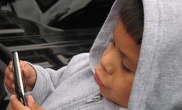 dziecka wideo gemowy plaing Obrazy Royalty Free