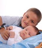 dziecka wielkiego brata opieki Obraz Royalty Free