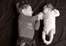 dziecka wielkiego brata siostra obraz stock