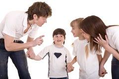 dziecka wychowanie rodzinny szczęśliwy Zdjęcie Royalty Free