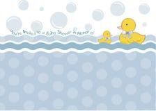 dziecka zaproszenia prysznic royalty ilustracja