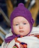 dziecka zbliżenia dziewczyny portret Zdjęcia Royalty Free