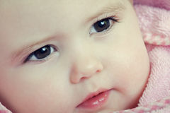dziecka zbliżenia twarz Obrazy Royalty Free