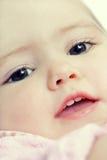 dziecka zbliżenia twarz Zdjęcia Royalty Free