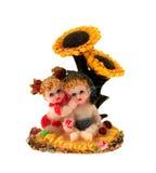 dziecka ziarno siedzi słonecznika dwa Obraz Stock