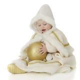 Dziecko śniegu Princess obrazy royalty free