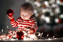 dziecko Świąt tła odizolowane w white Zdjęcia Royalty Free