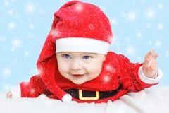 Dziecko Święty Mikołaj Fotografia Royalty Free
