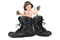 Dziecko żołnierz piechoty morskiej Obraz Stock