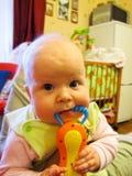 Dziecko żuć zabawkę Zdjęcie Royalty Free