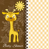 Dziecko żyrafa royalty ilustracja