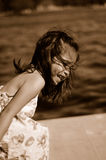 dziecko 1 śmiać Obraz Stock