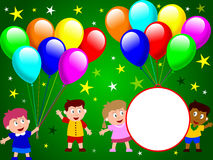 dziecko 2 bawią się razem royalty ilustracja