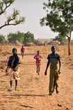 dziecko afrykańska wioska Zdjęcia Royalty Free