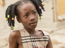 dziecko afrykańskiej Obrazy Royalty Free