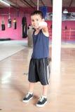 Dziecko atlety ćwiczy pudełko Zdjęcie Stock