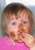dziecko bałagan Zdjęcia Royalty Free