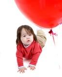 dziecko balonowa czerwony Obraz Stock