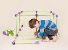 Dziecko Bawić się fort i Buduje fotografia stock