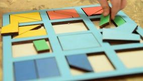 Dziecko bawić się uczenie grę w domu zdjęcie wideo