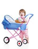 Dziecko bawić się z figlarkami Zdjęcie Royalty Free