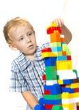 Dziecko bawić się z zabawkami Zdjęcie Royalty Free
